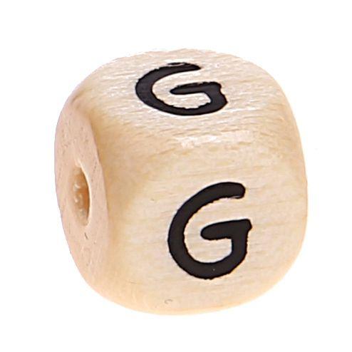 Buchstabenwürfel Holz geprägt 10 mm 'G' 1627 auf Lager