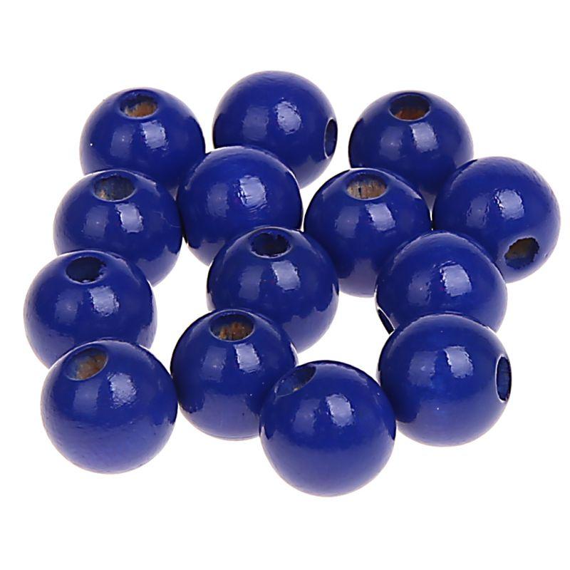 Holzperlen 12mm • 30 Stück 'dunkelblau' 2 auf Lager