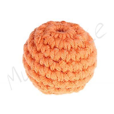 Häkelperle 20 mm 'mandarin' 127 auf Lager