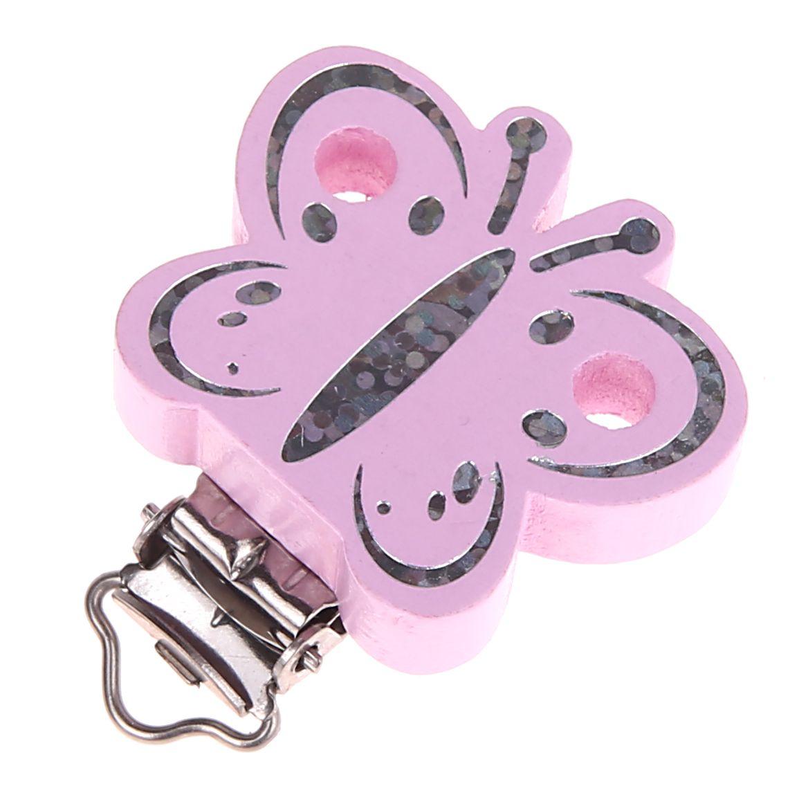 Schmetterlingclip Glitzer 'rosa' 69 auf Lager