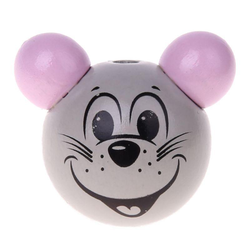 Motivperle 3D Maus 'rosa' 1005 auf Lager