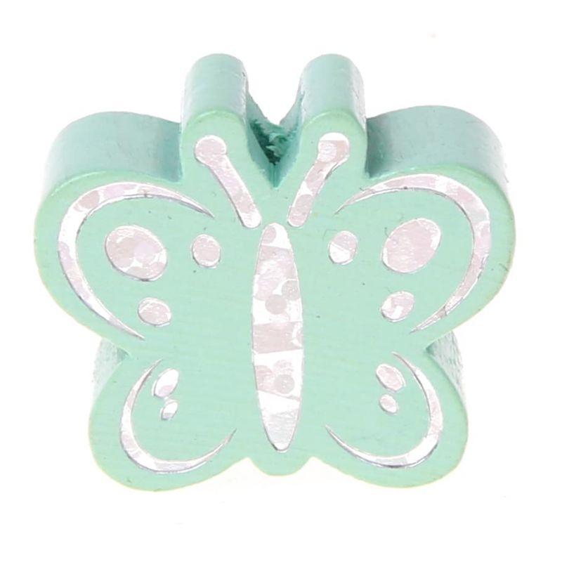 Motivperle Schmetterling Glitzer 'mint' 0 auf Lager