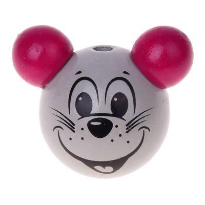 Motivperle 3D Maus 'dunkelpink' 0 auf Lager