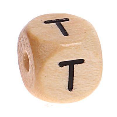 Buchstabenwürfel Holz geprägt 10 mm 'T' 1016 auf Lager