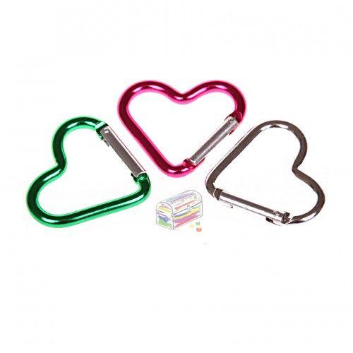 Herzkarabiner 'pink' 0 auf Lager