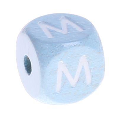 Buchstabenperlen babyblau 10x10mm 'M' 1099 auf Lager