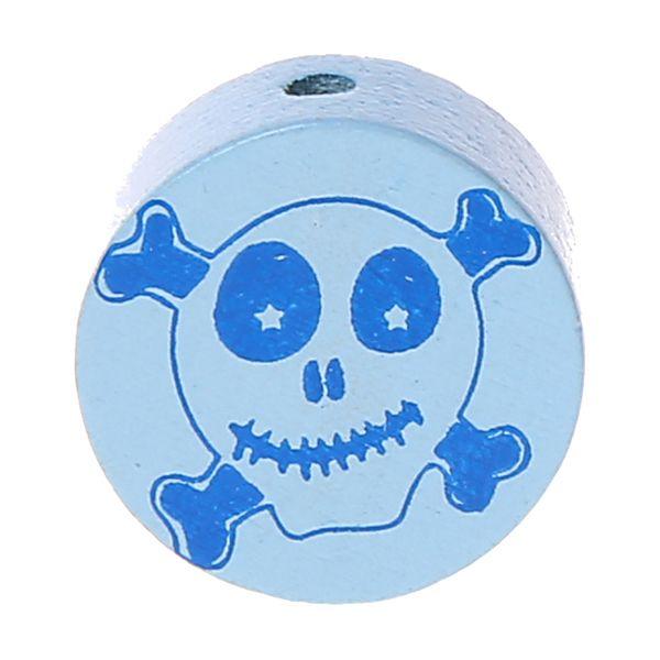 Motivperle Scheibe Happy Skull 'babyblau' 920 auf Lager