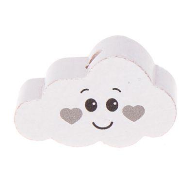 Motivperle Wolke Gesicht 'weiß-hellgrau' 233 auf Lager