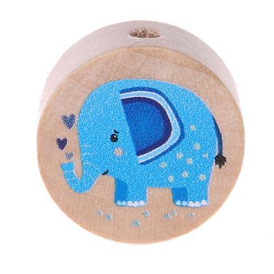 Motivperle Elefant (Scheibe) 'blau' 280 auf Lager