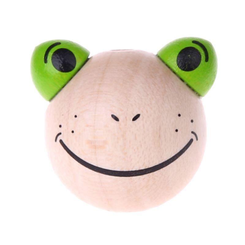Motivperle 3D Frosch 'natur' 1062 auf Lager