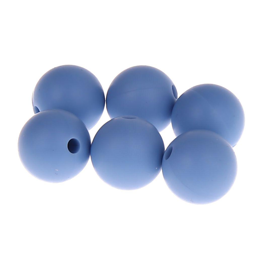 Silikonperle 12mm 'hellblau' 0 auf Lager