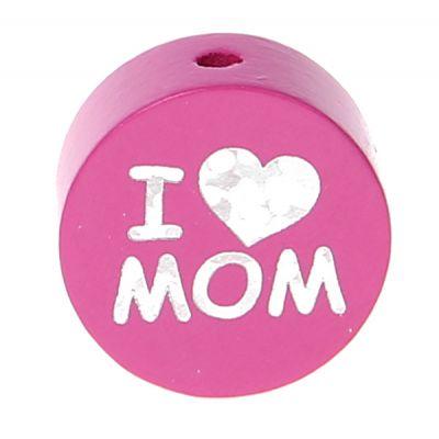 Motivperle I Love MOM / DAD 'pink' 783 auf Lager