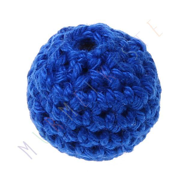 Häkelperle 20 mm 'royalblau' 0 auf Lager