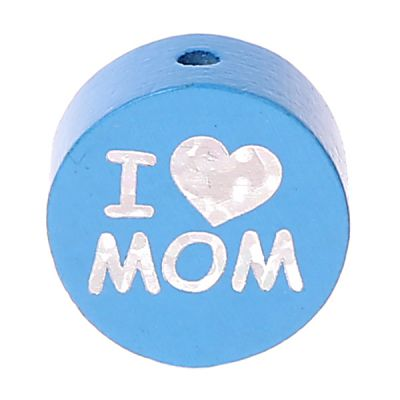 Motivperle I Love MOM / DAD 'skyblau' 0 auf Lager