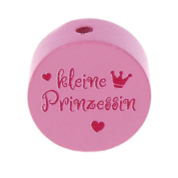 Motivperle Scheibe kleine Prinzessin 'babyrosa' 0 auf Lager