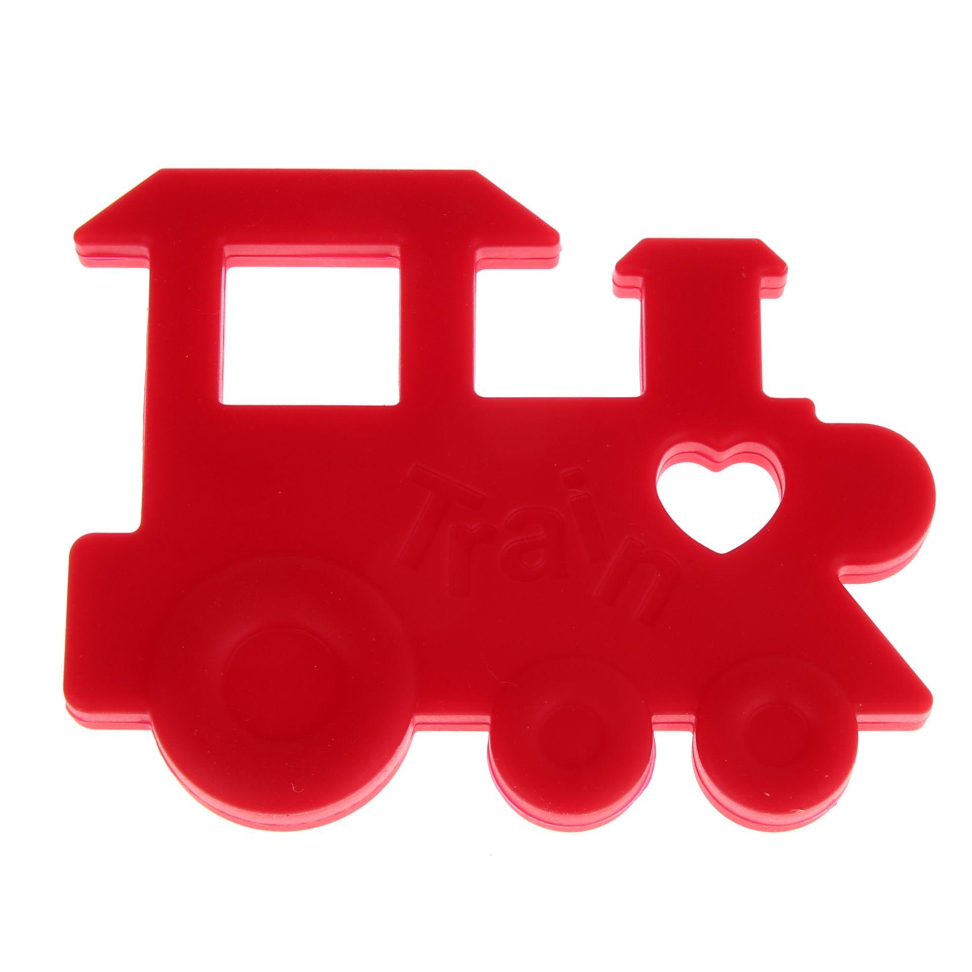 Beißring Lokomotive 'hellrot' 0 auf Lager