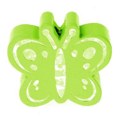 Motivperle Schmetterling Glitzer 'gelbgrün' 164 auf Lager