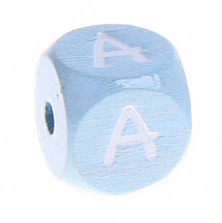 Buchstabenperlen babyblau 10x10mm 'A' 2451 auf Lager