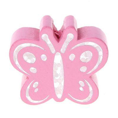 Motivperle Schmetterling Glitzer 'babyrosa' 566 auf Lager
