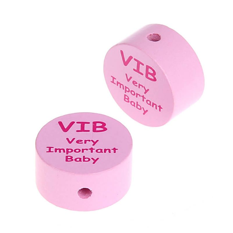 Motivperle Scheibe VIB Very Important Baby 'rosa' 1079 auf Lager