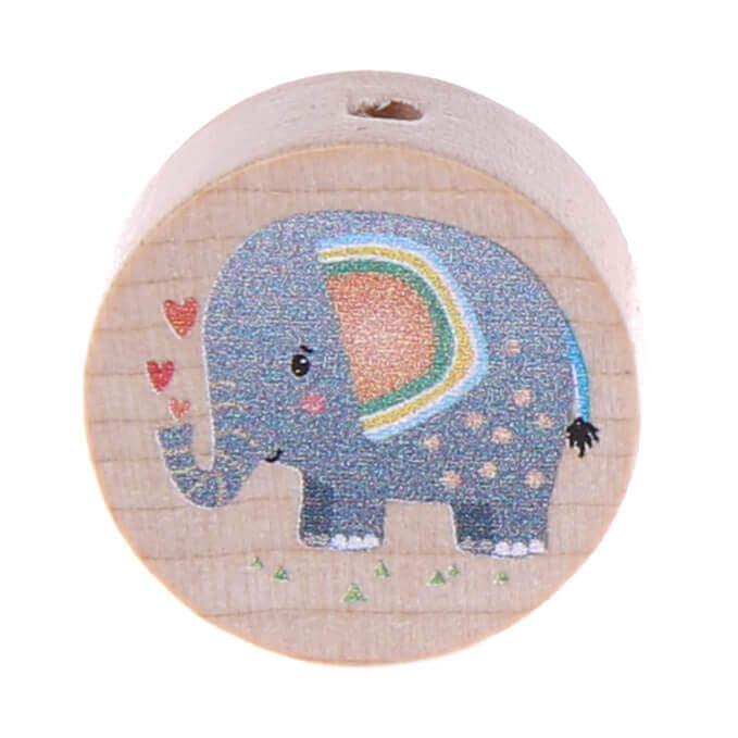 Motivperle Elefant (Scheibe) 'grau' 288 auf Lager