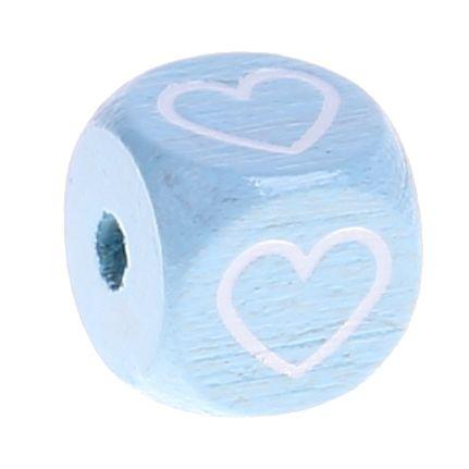 Buchstabenperlen babyblau 10x10mm '♥' 0 auf Lager