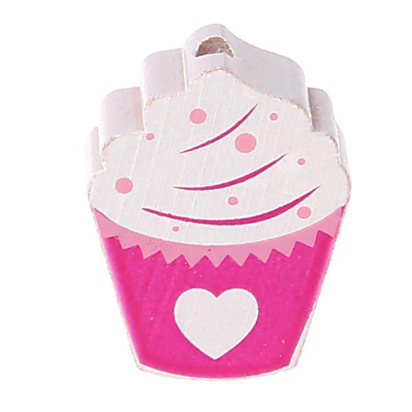 Motivperle Cupcake 'dunkelpink' 513 auf Lager