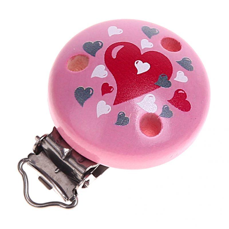 Motivclip Herzen 'rosa' 0 auf Lager