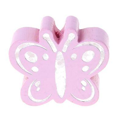 Motivperle Schmetterling Glitzer 'rosa' 651 auf Lager