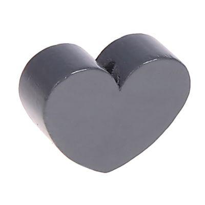 Motivperle Herz (mini) 'grau' 2222 auf Lager