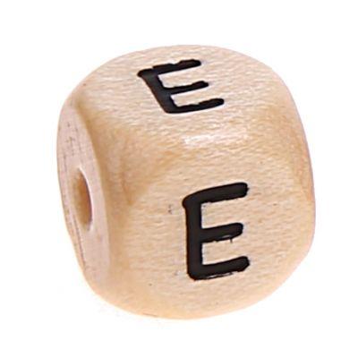 Buchstabenwürfel Holz geprägt 10 mm 'E' 3854 auf Lager