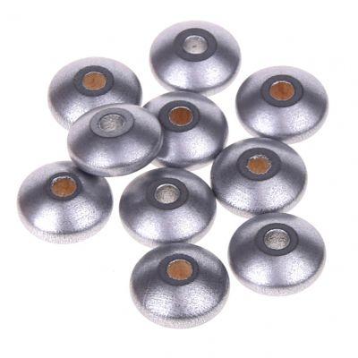 Holzlinsen 14mm • 50 Stück 'silber' 54 auf Lager