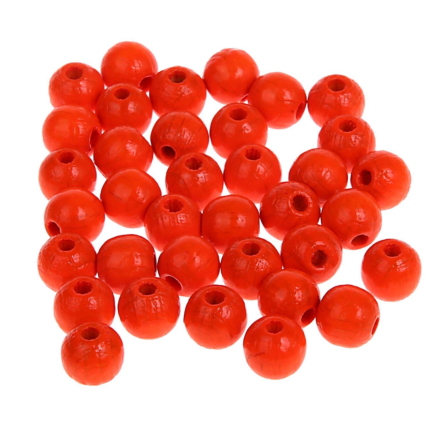 Neonperlen 8mm • 80 Stück 'neon-orange' 0 auf Lager