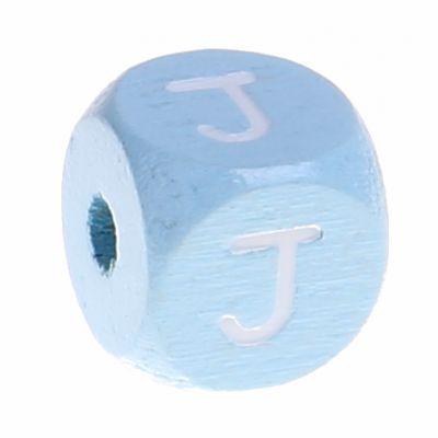 Buchstabenperlen babyblau 10x10mm 'J' 793 auf Lager
